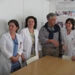 L'ambulatorio presso l'ospedale di Valona